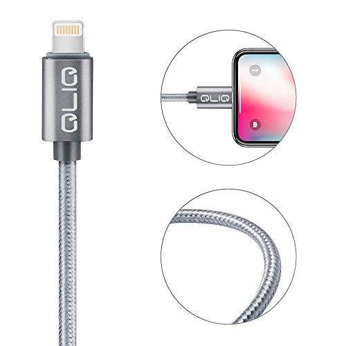 USB Daten- und Ladekabel 2.4A, Nylon, 1m, 2-Pack Lightning- iPhone X / 8/8+ / 7/7+ / 6 / 6s, iPad Air 2, Mini 4 etc für 3,99€ @ AmazonP