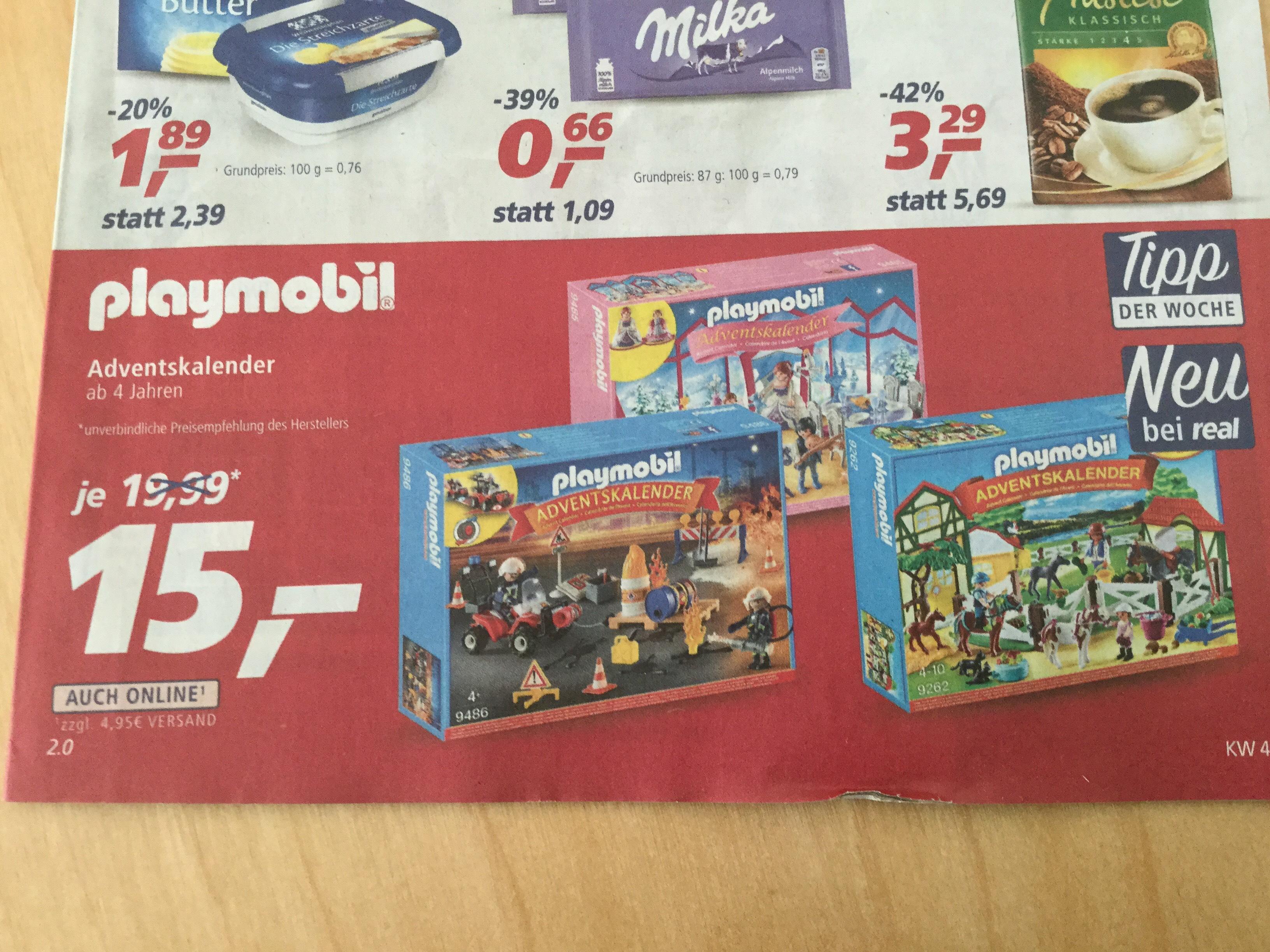 REAL Playmobil Adventskalender bis zu 35% gespart