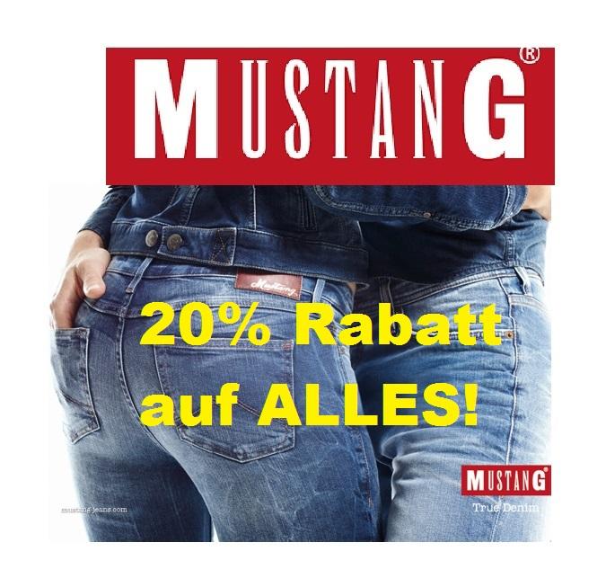 Jetzt im Mustang Online Shop: 20% Rabatt auf ALLES!