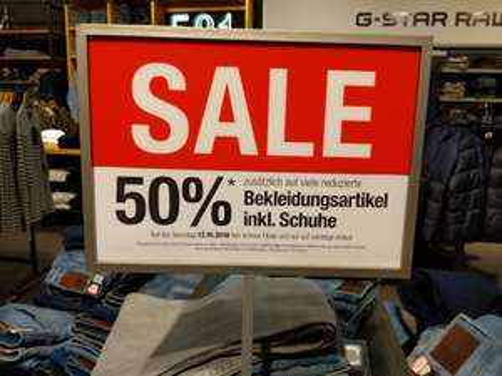 [Kaufhof Kassel] 50% auf reduzierte Bekleidung, zb G-Star 3301 für 50€