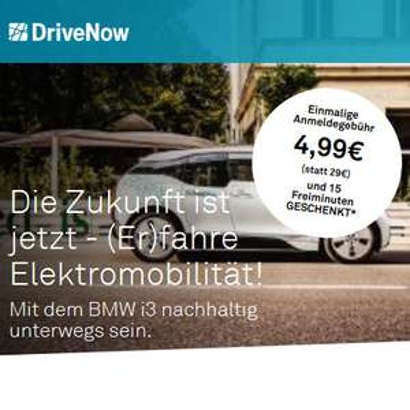 [DriveNow] Anmeldung für 4,99€ inkl. 15 Freiminuten