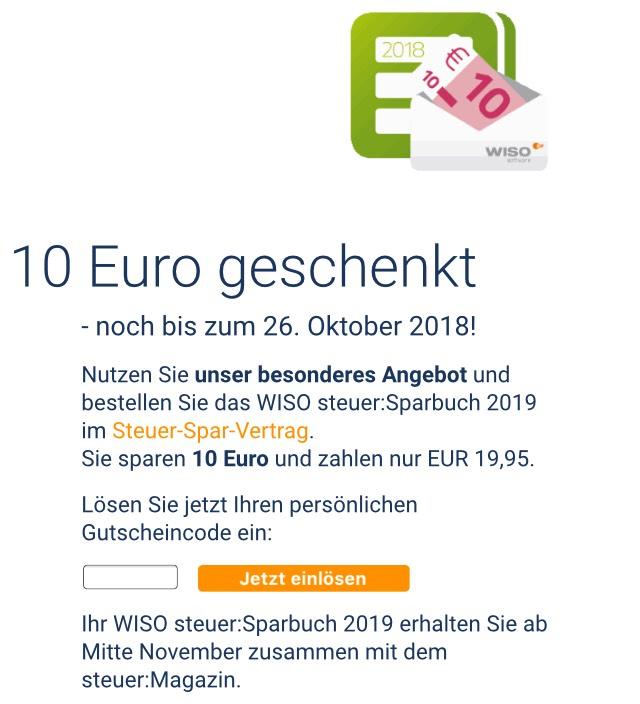 Buhl WISO steuer:Sparbuch 2019 - 19,99€ statt 29,99€
