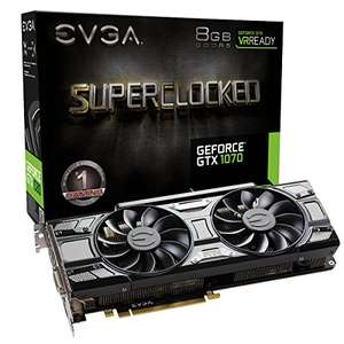 EVGA GeForce GTX 1070 SC GAMING ACX 3.0 Black Edition (Amazon.com)