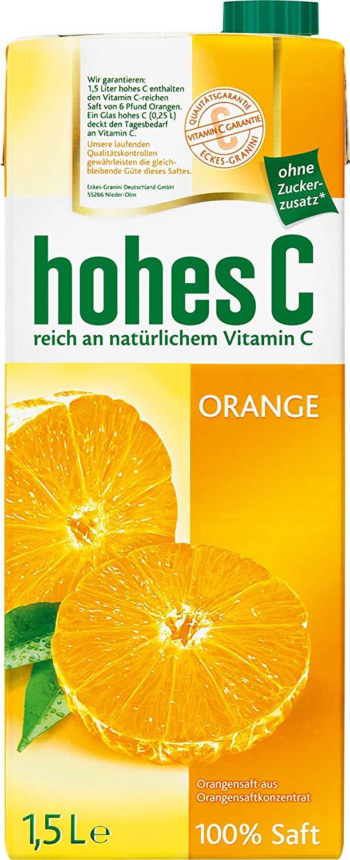 Hohes C 100% Orangensaft 1,5l für 1,00€ [Euroshop-Filialen]
