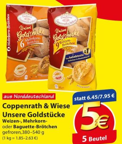"""[Famila NO] 5x Coppenrath & Wiese """"Unsere Goldstücke"""" für 4,00€ (=0,80€/Beutel)"""
