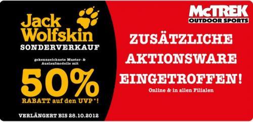 50% Rabatt auf Jack Wolfskin Jacken und viele Andere Marken