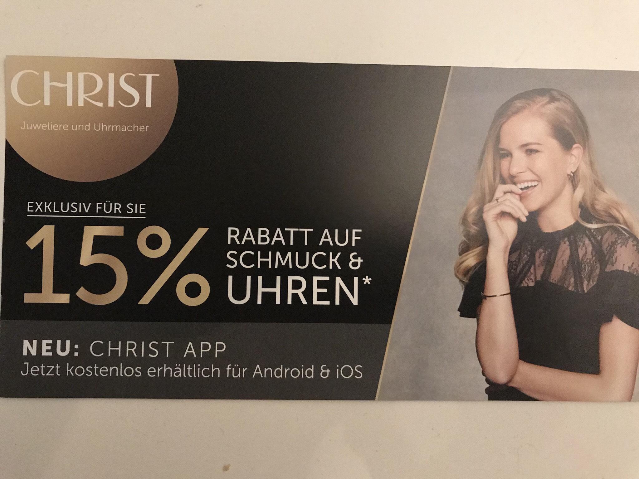 CHRIST.de -15% auf Eigen-/ Exklusivmarken