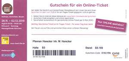 3x Kostenfreie Eintrittskarten für die Heim + Handwerk in München