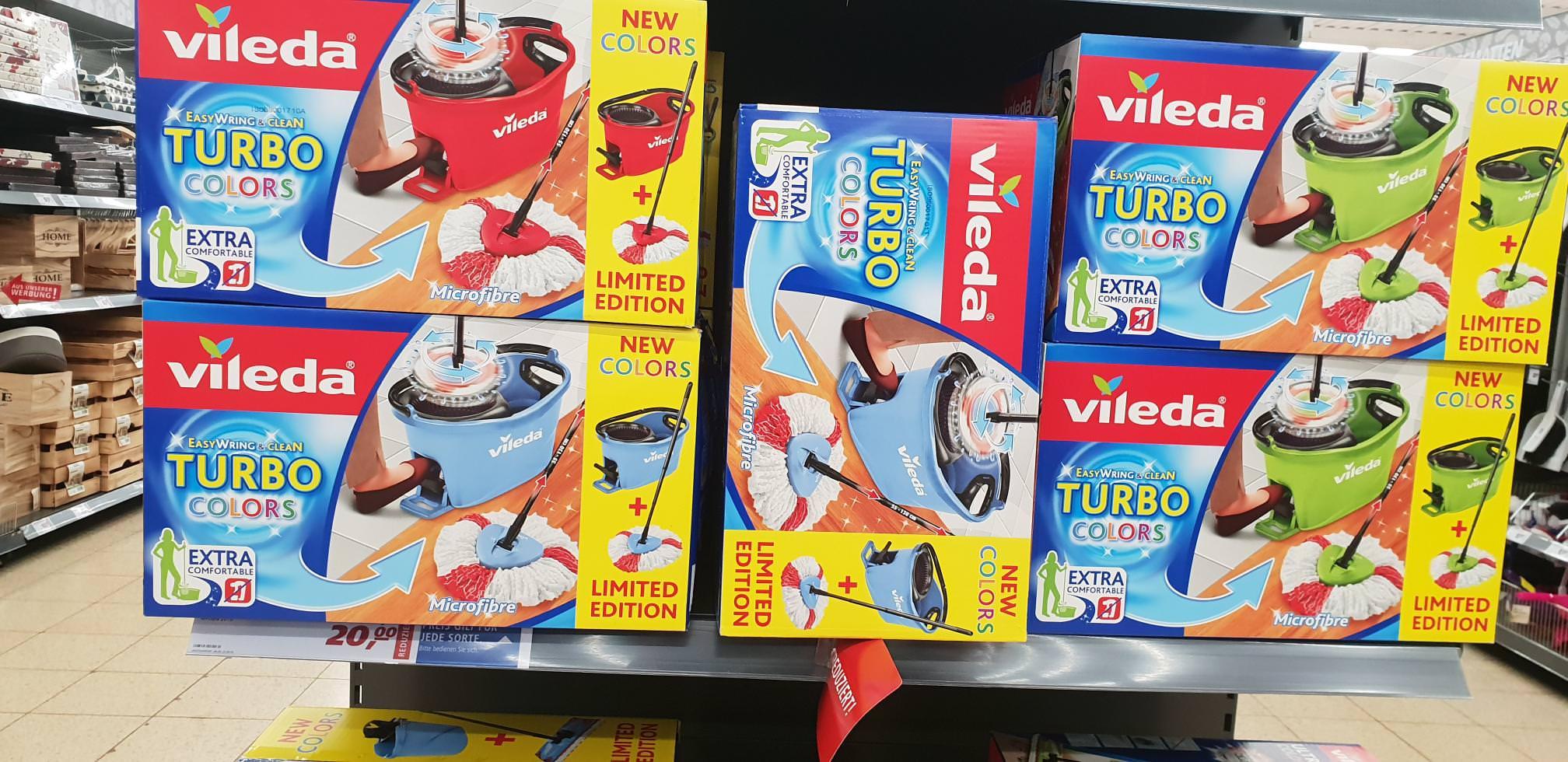[Nur Darmstadt?] Vileda Turbo Colors für 20€ (+ 5€ Cashback) oder Vileda Ultramat 2in1 für 15€ (+ 5€ Cashback) [REAL]