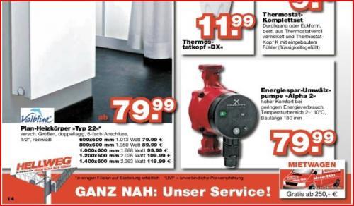 bei Hellweg, Grundfos Alpha 2 25-40 180mm Umwälzpumpe  ab 70,39€