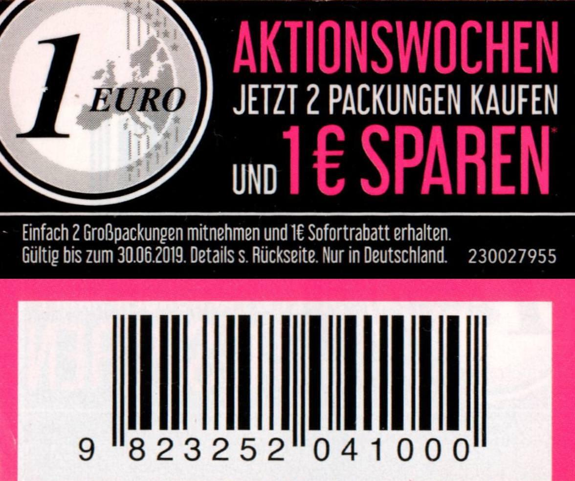 Neuer 1€ Coupon für den Kauf von 2x Carefree Slipeinlagen 40,44,48,56er [bundesweit]