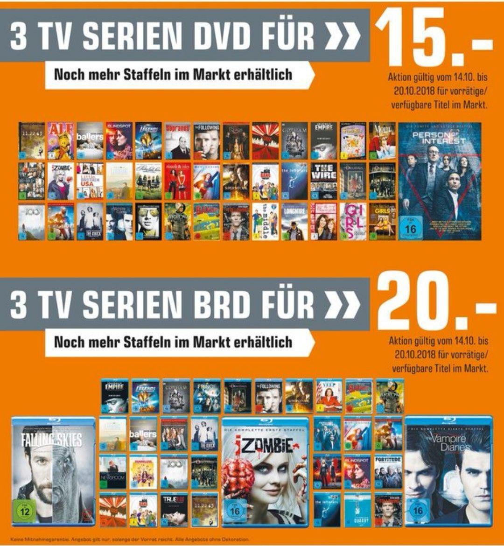 [Lokal Berlin] 3 TV Serien DVD für 15€ als Blu-Ray 20€ Saturn
