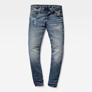 G-Star Raw 3301 – blaue Herren Tapered Denim Jeans für je 49,95€