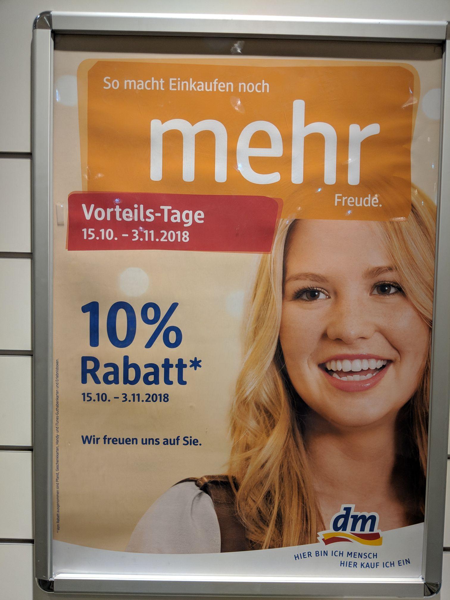 [Augsburg] DM: 10% auf gesamtes Sortiment*