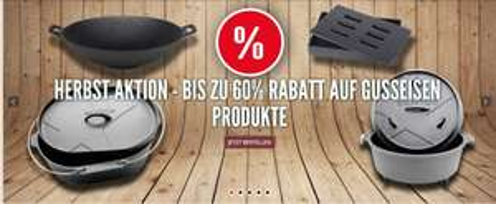 Bis zu 60 % Rabatt bei Santos Grill auf Gusswaren DutchOven, Wok etc. ~On und Offline~