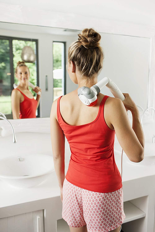 Handmassagegerät Medisana HM 886 (6.5W, 2 Stufen, 5 Aufsätze, verschiedene Winkel, Rotlicht- und Wärmefunktion)