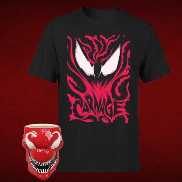 Venom Carnage Herren T-Shirt + Tasse für 9,89€ (Zavvi)