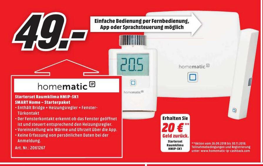 LOKAL Media Markt Elmshorn Homematic IP Starterset Raumklima