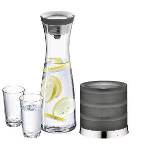 """[Amazon.de] WMF-Karaffe Basic 1 Liter """"Aquarista-Set I""""  mit 2 Gläsern und Kühlsockel -46%"""