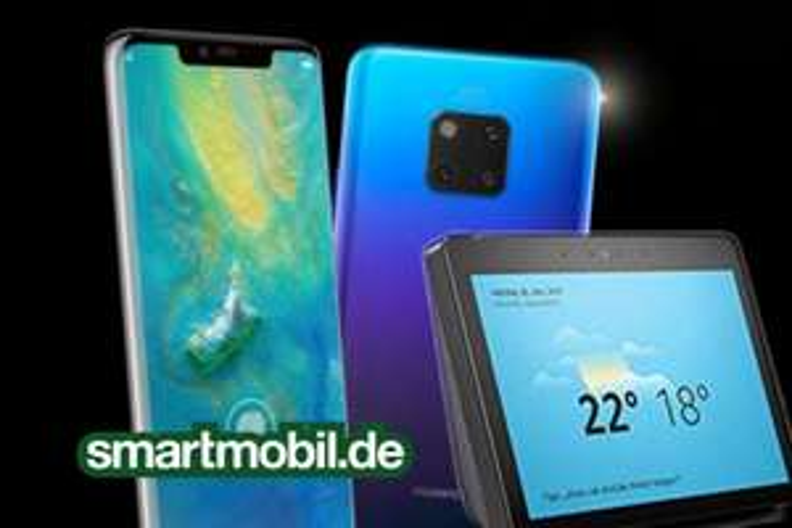 Huawei Mate 20 Pro 128GB + Amazon Echo Show 2.Gen + Smartmobil LTE Special mit 2GB LTE im O2-Netz