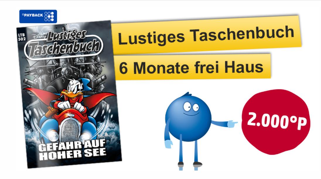 Lustiges Taschenbuch 6-Monats Abo für 32,50€ und 2000 Payback Punkte Cashback