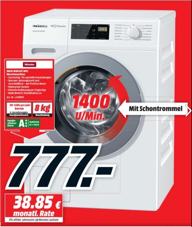 [MM Berlin] Miele WDD 031 WPS Waschmaschine Frontlader / 1400 UpM / 8 kg Schontrommel