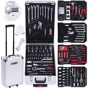 Masko 849tlg Werkzeugkoffer Werkzeugkasten Werkzeugkiste Werkzeug Trolley Profi