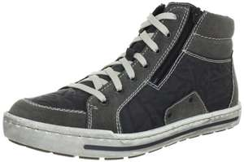 (Amazon Prime ) Gr.41+45 Rieker 38034 Herren Hohe Sneakers *Grau*