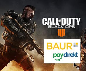 paydirekt@Baur TechnikTrick/z.B. CoD: Black Ops 4 Xbox One 47,98€ / Fifa 19 PS4 45,26€ / Mario Party 37,89€  / SpiderMan 45,76€ / RDR2 52,98