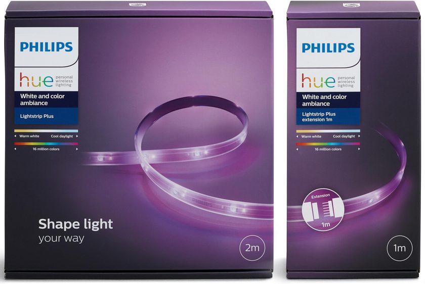 Philips Hue LightStrip+ 300 cm (Base 200 cm + Erweiterung 100 cm)