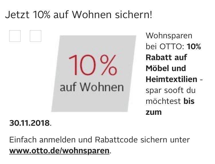 Otto 10% auf Möbel und Heimtextilien