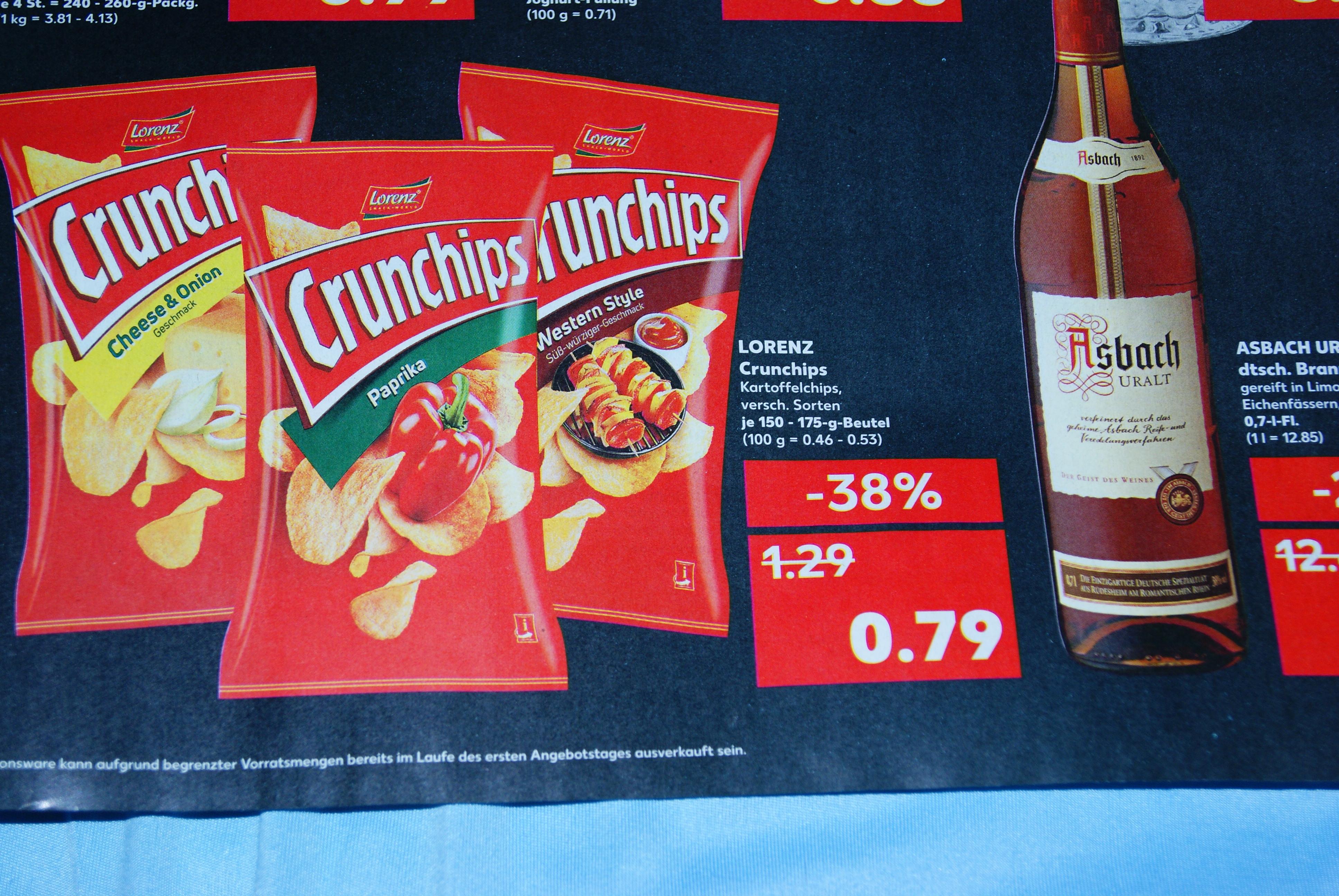 Crunchips für günstige 79 Cent [lokal Berlin]