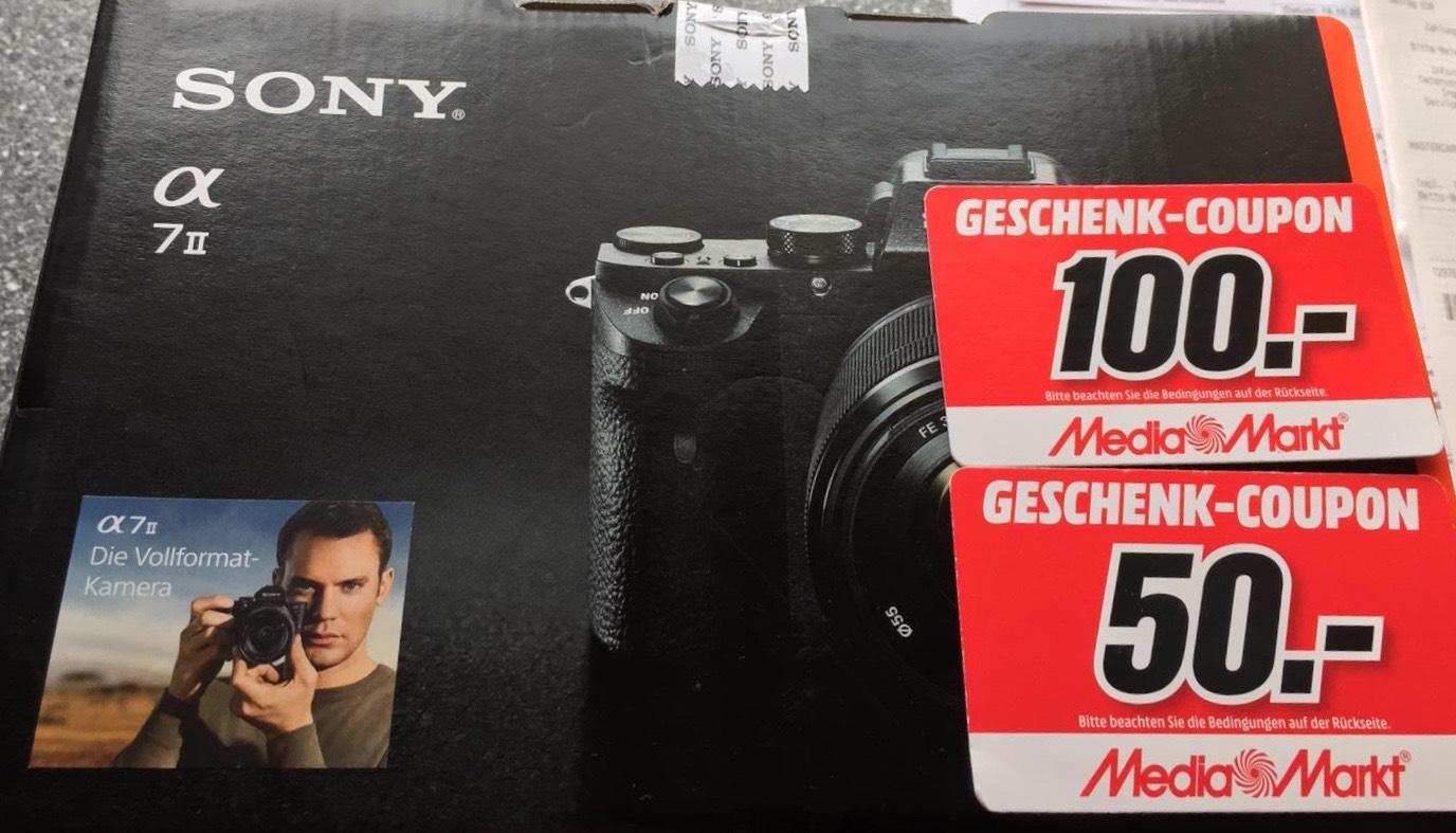LOKAL: Sony Alpha 7 II Kit für 1199 + 150€ Mediamarkt Coupon