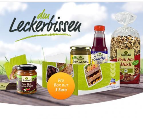 DM Leckerbissen Alnatura Box von DM für 5€