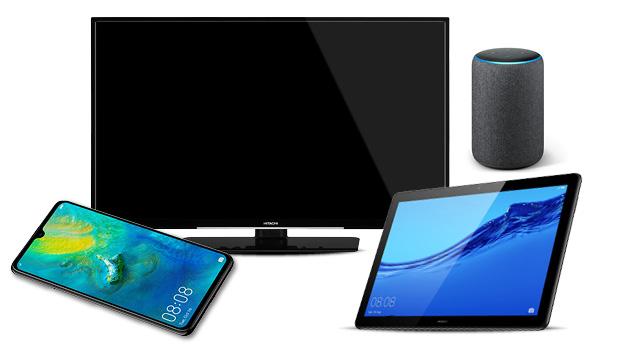 """Vodafone Smart XL 11GB LTE mit Mate 20 + Amazon Echo Plus 2. Gen + 50"""" UHD TV + Huawei Mediapad M5 Lite /// effektiv mit Gewinn nach Verkauf"""
