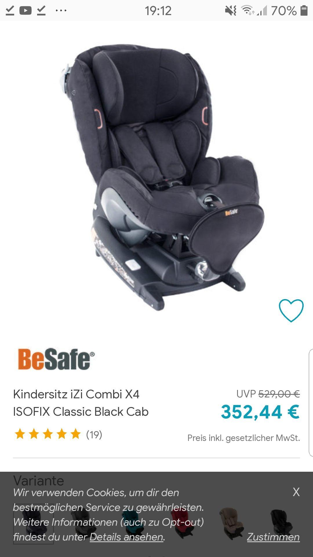 Kindersitz iZi Combi X4 ISOFIX Classic Black Cab