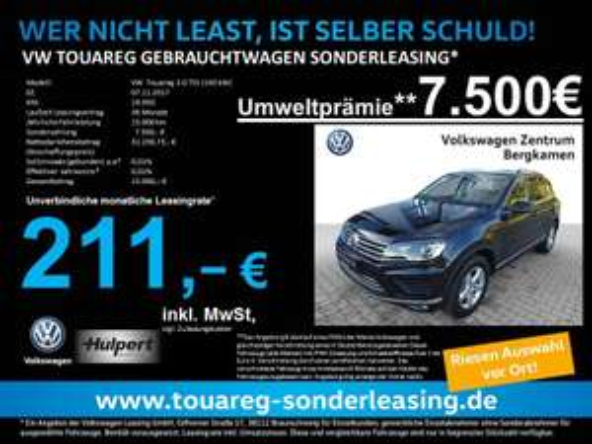 VW Touareg 211€/36Mon/15tkm Jahreswagen Umweltprämie Leasing VW Touareg V6 TDI AHK/LUFT/XENON/ALU/LEDER