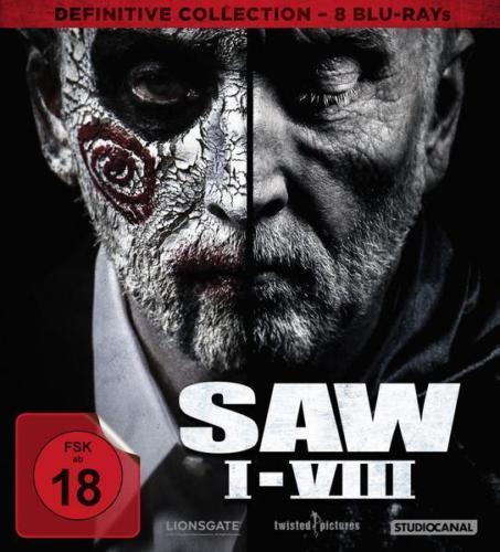 SAW I-VIII Definitive Collection (8x Blu-ray) für 28,21€ (Thalia)