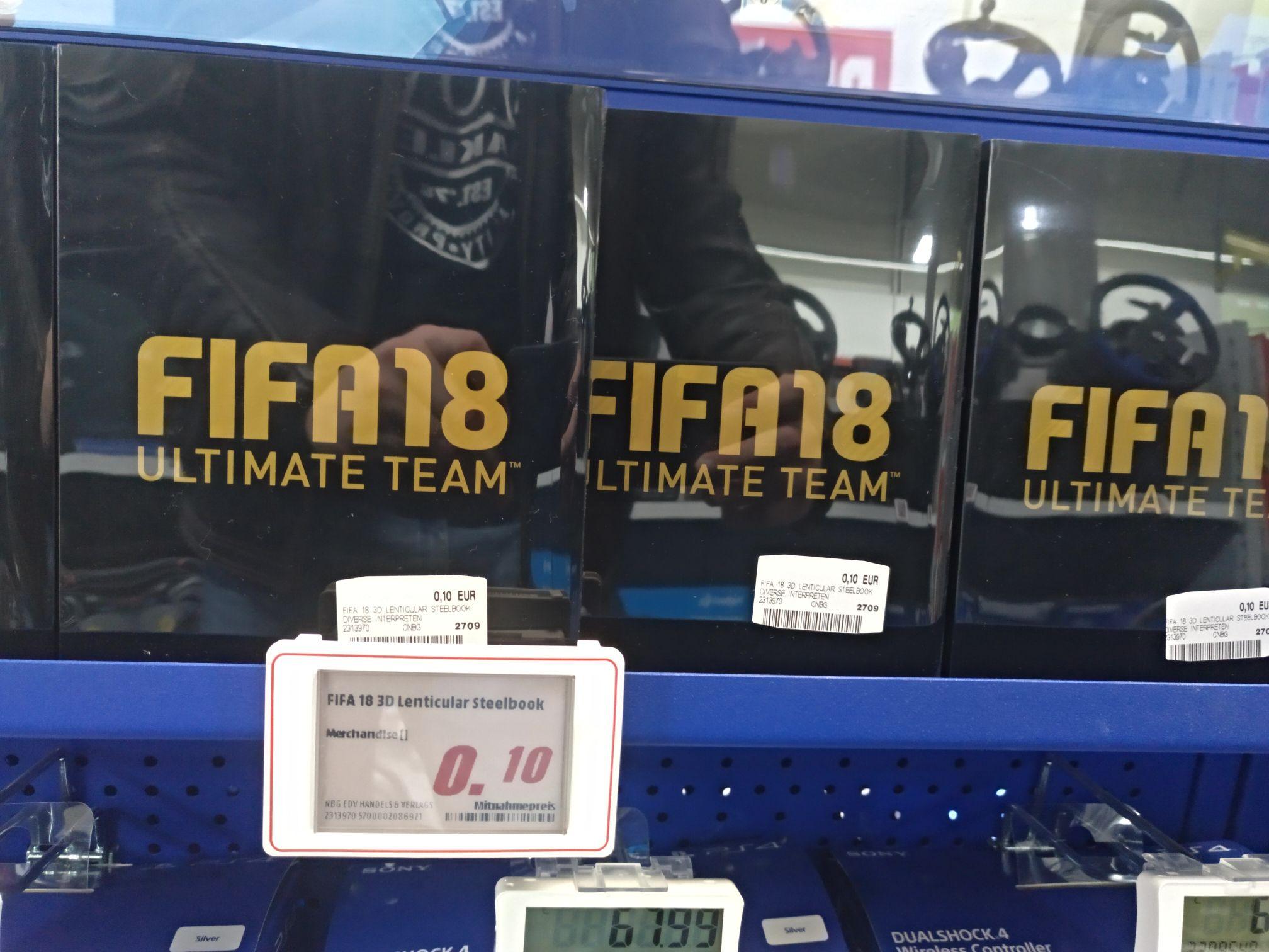 FIFA 18 Steelbook - OHNE Spiel (Lokal MM Wolfsburg)