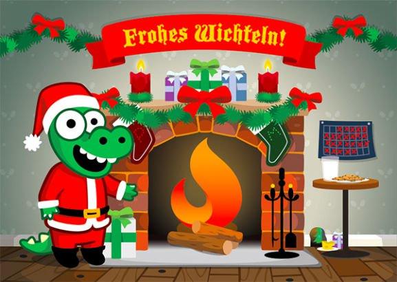 Weihnachtskalender-Übersicht mit zusätzlichen Geschenkgutscheinen / Warengutschein ikea, edeka, aldi, conrad