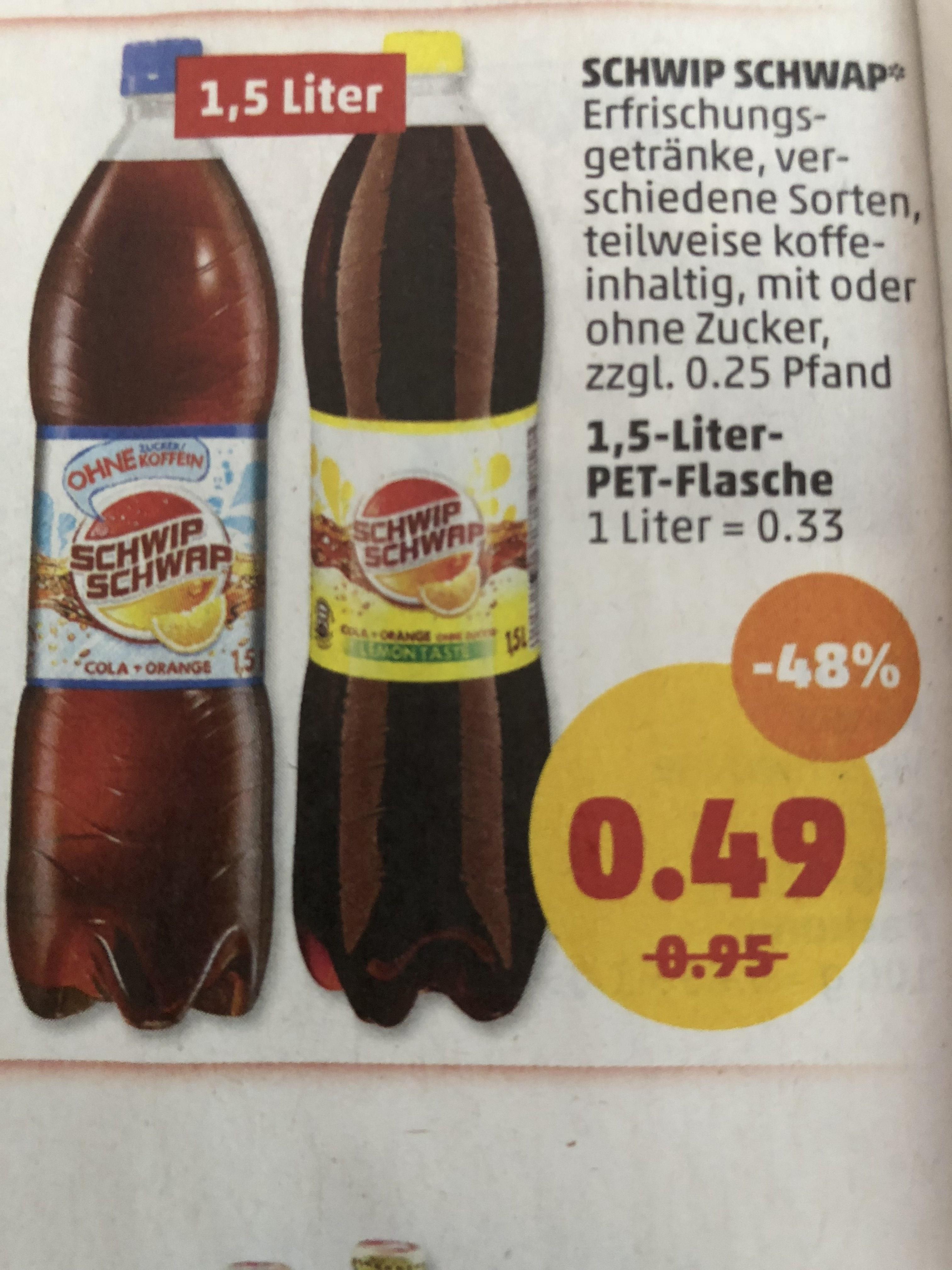 Schwip Schwap 1,5l 0,49€ ab Montag bei Penny