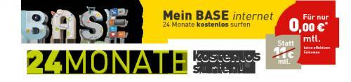 Base Internet IFI 11 Datentarif ohne mtl. Grundpreis (rechnerisch) durch Auszahlung inkl. gratis Surf Stick