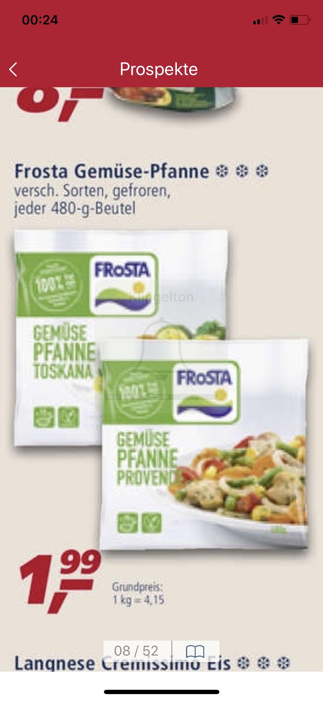 Frosta Gemüse Pfanne 480gr ab Montag bei real