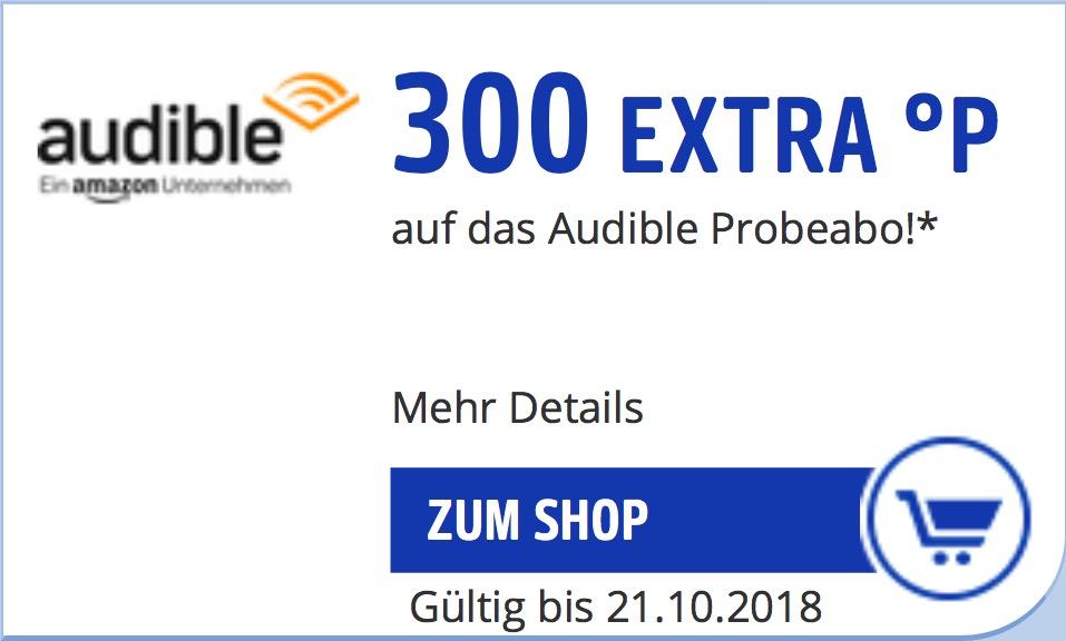 [450 PayBack Punkte gratis] 300P Extra + 150P bei Abschluss eines kostenlosen Audible Probeabo