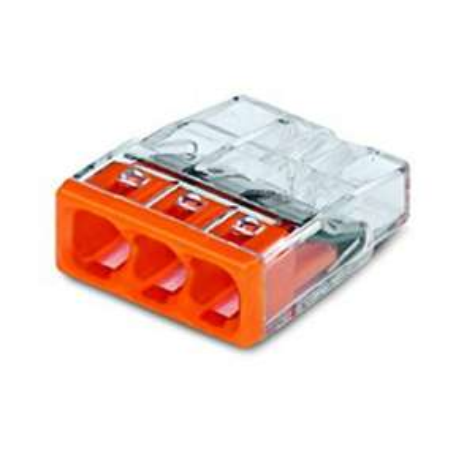 Amazon Prime 100 St.  Wago 2273-203 Compact-Dosenklemme 3 x 0.5-2.5 qmm