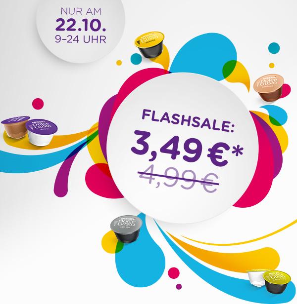 [Dolce Gusto] Packungspreise ab 2,97€ möglich! Nur am 22.10.2018: Alle Sorten im Sale für 3,49 €!