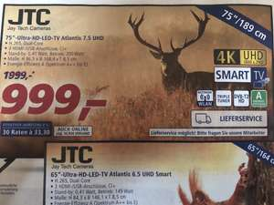 JTC 75 Zoll Ultra HD LED TV Atlantis 7,5 UHD bei Real