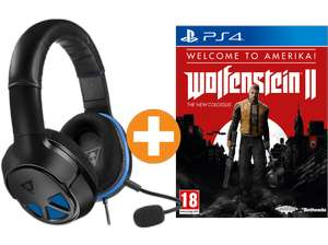 Turtle Beach Recon 150 Gaming Headset + Wolfenstein II: The New Colossus (Welcome to Amerika) (PS4 & Xbox One ) für je 57€ (Saturn AT)
