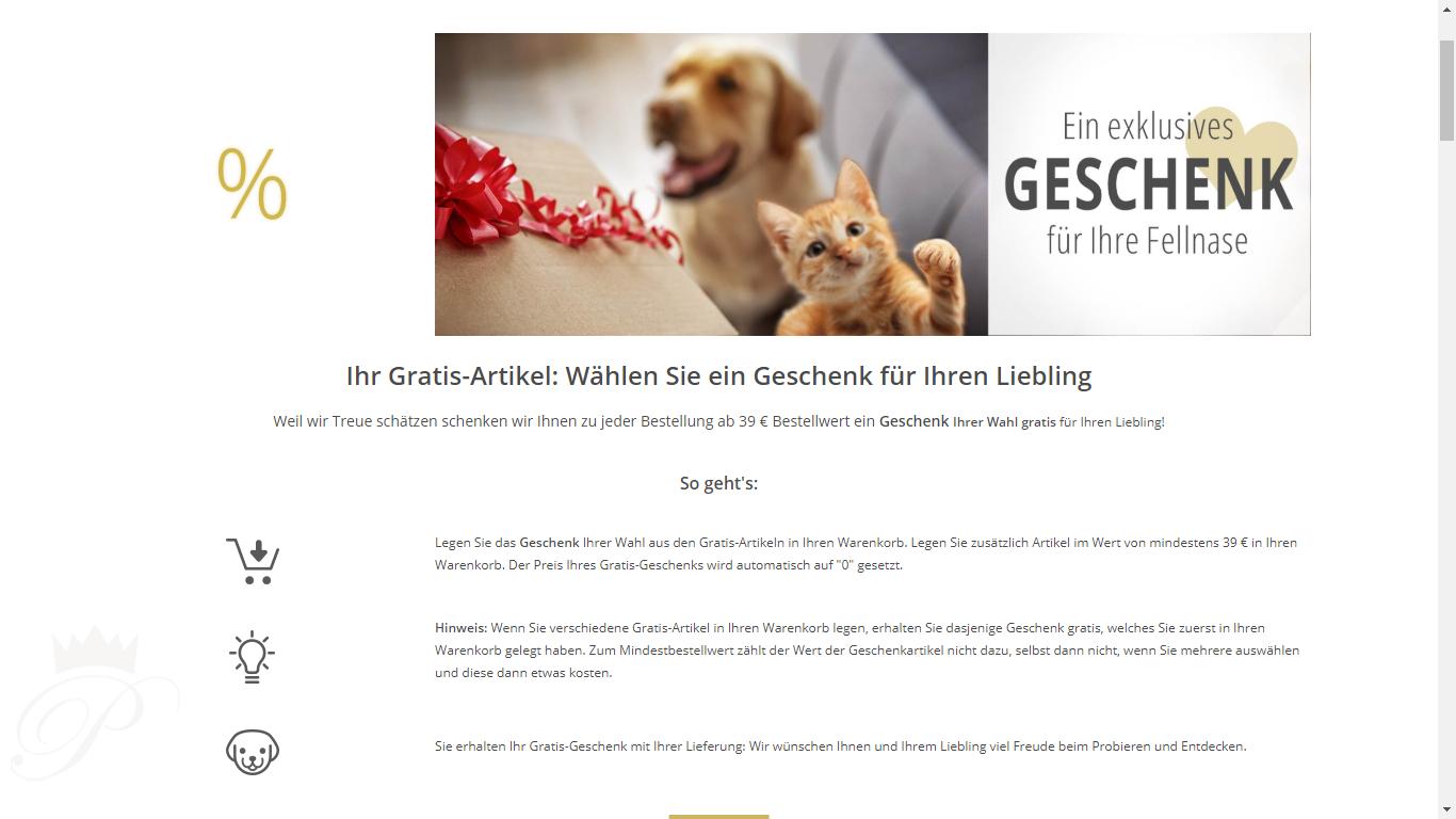 pets Premium Geschenk auswählen + shoop  MBW 39 € + 5€ NL-Anmeldung