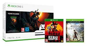 Xbox One S 1TB Shadow of the Tomb Raider Bundle + Red Dead Redemption 2 + Assassin's Creed Odyssey Limited Edition für 267,90€ (Amazon UK)